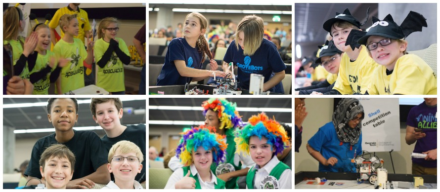 FIRST LEGO League Photo Collage