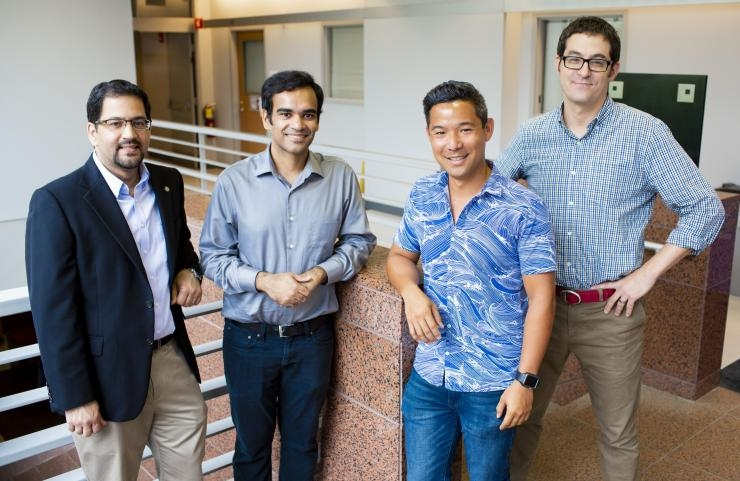 Georgia Tech/Emory research team: Muhannad Bakir, Muneeb Zia, Bryce Chung, and Sam Sober