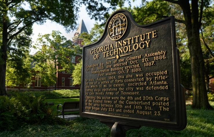 Georgia Institute of Technology Placard