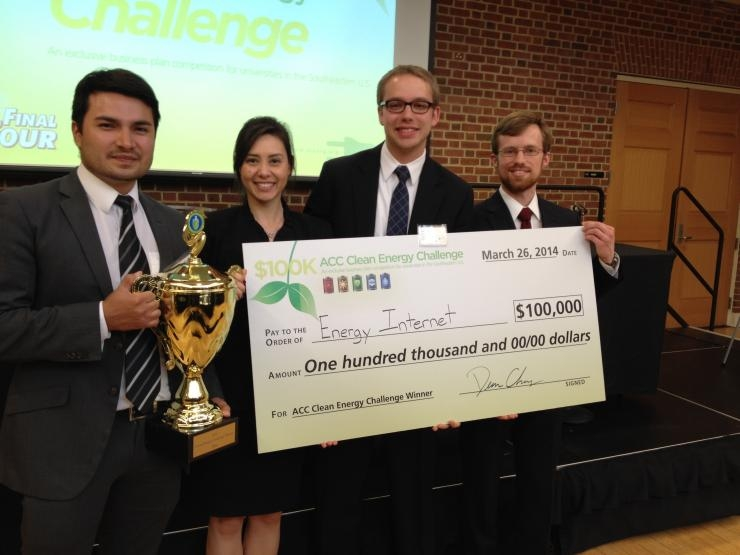 Georgia Tech's winning team at the 2014 ACC Clean Energy Challenge
