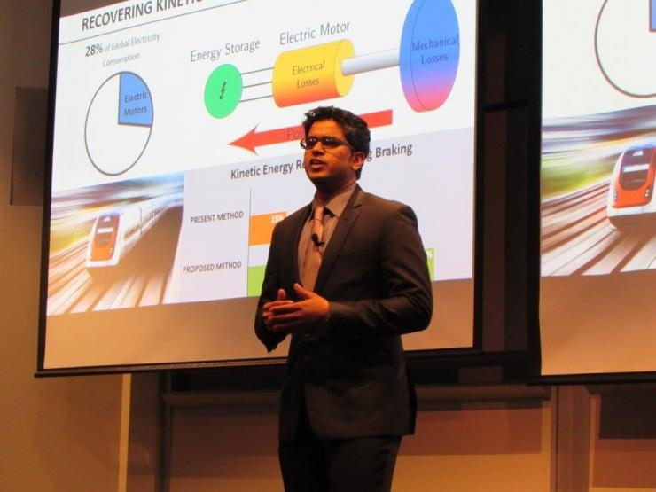 Aravind Samba Murthy presents at the Georgia Tech Three Minute Thesis Competition