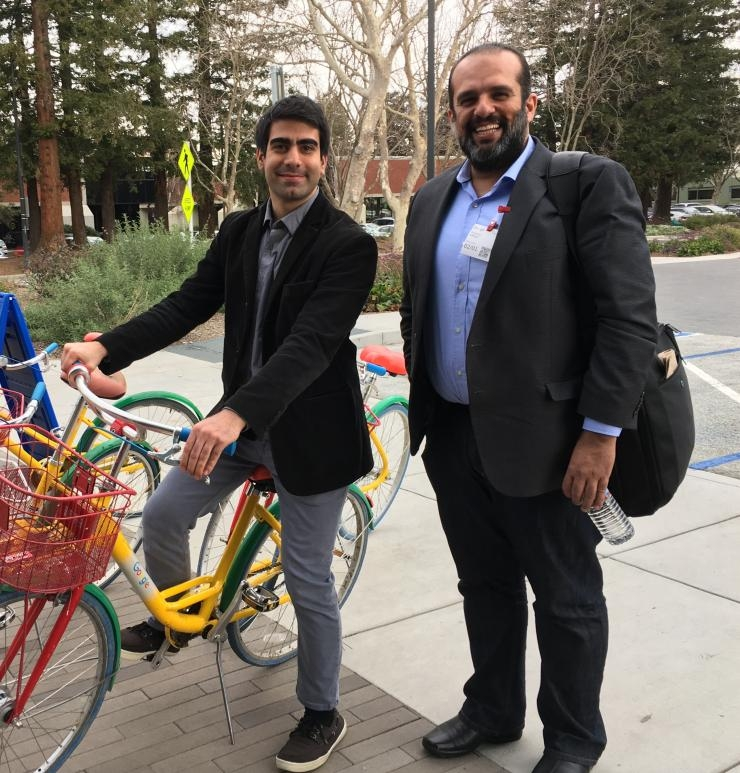 Dogancan Temel and Ghassan AlRegib on a recent visit to Google's global headquarters in Mountain View, California.