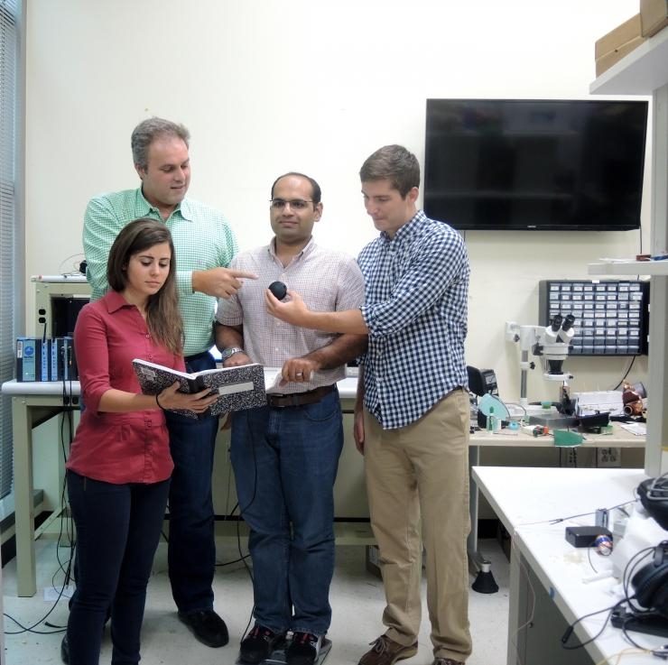 Inan Research Laboratory members - Hazar Ashouri, Omer Inan, Abdul Qadir Javaid, and Andrew Carek