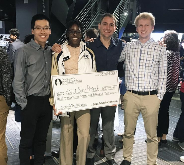 GTSF Check Presentation to Haiti Solar Team
