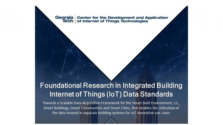 Report on IoT Data Standards for the Smart Built Environment
