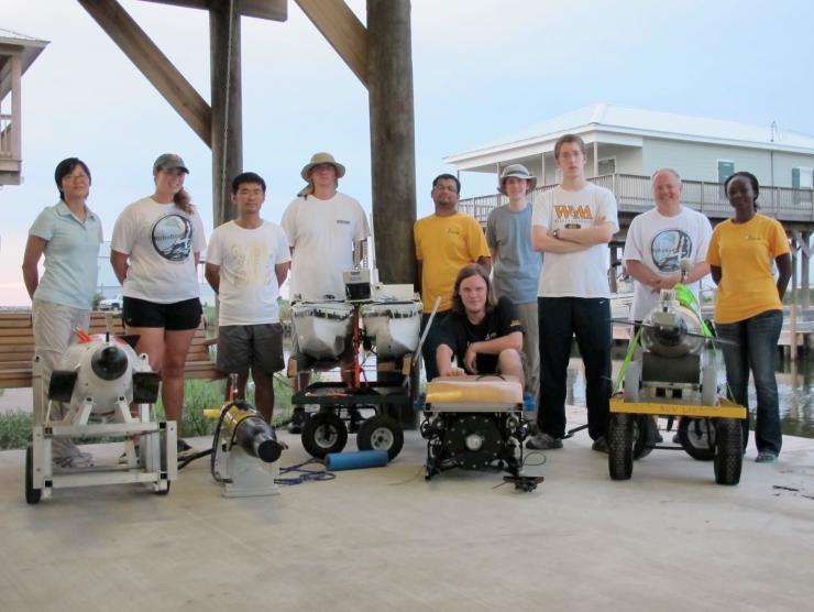 Robotic surveying team members from Georgia Tech and the College of William and Mary.