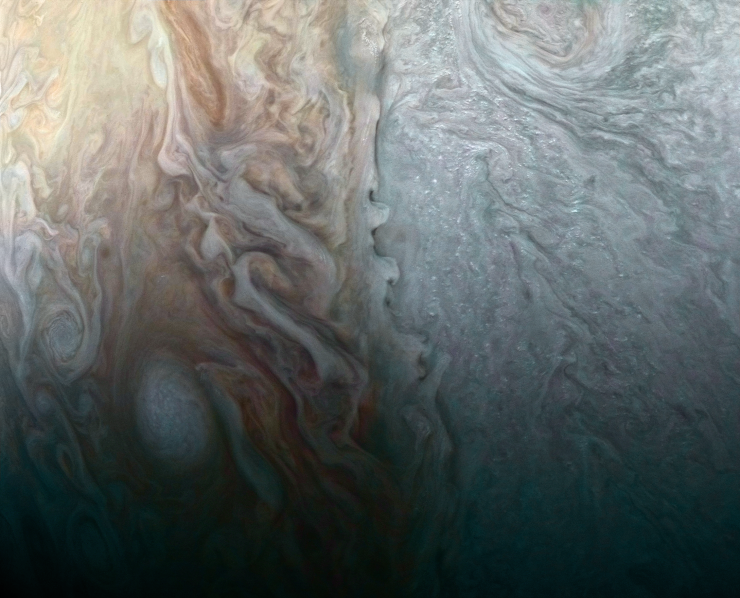 Juno image of Jupiter