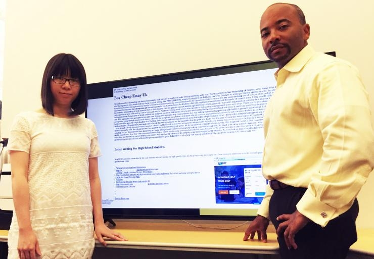 Researchers with code promoting essays