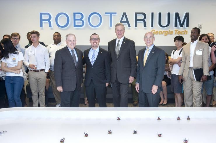 Robotarium Ribbon Cutting VIPs