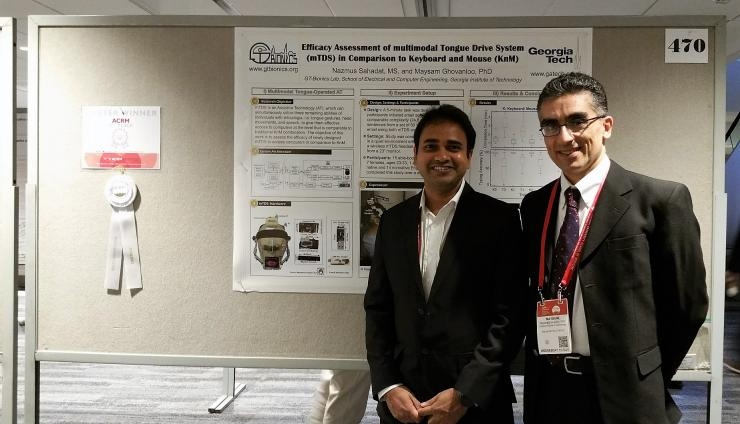 Md. Nazmus Sahadat (left) and Maysam Ghovanloo, ACRM Poster Award honorees